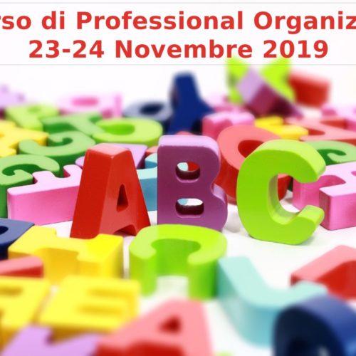 Il corso di Professional Organizing